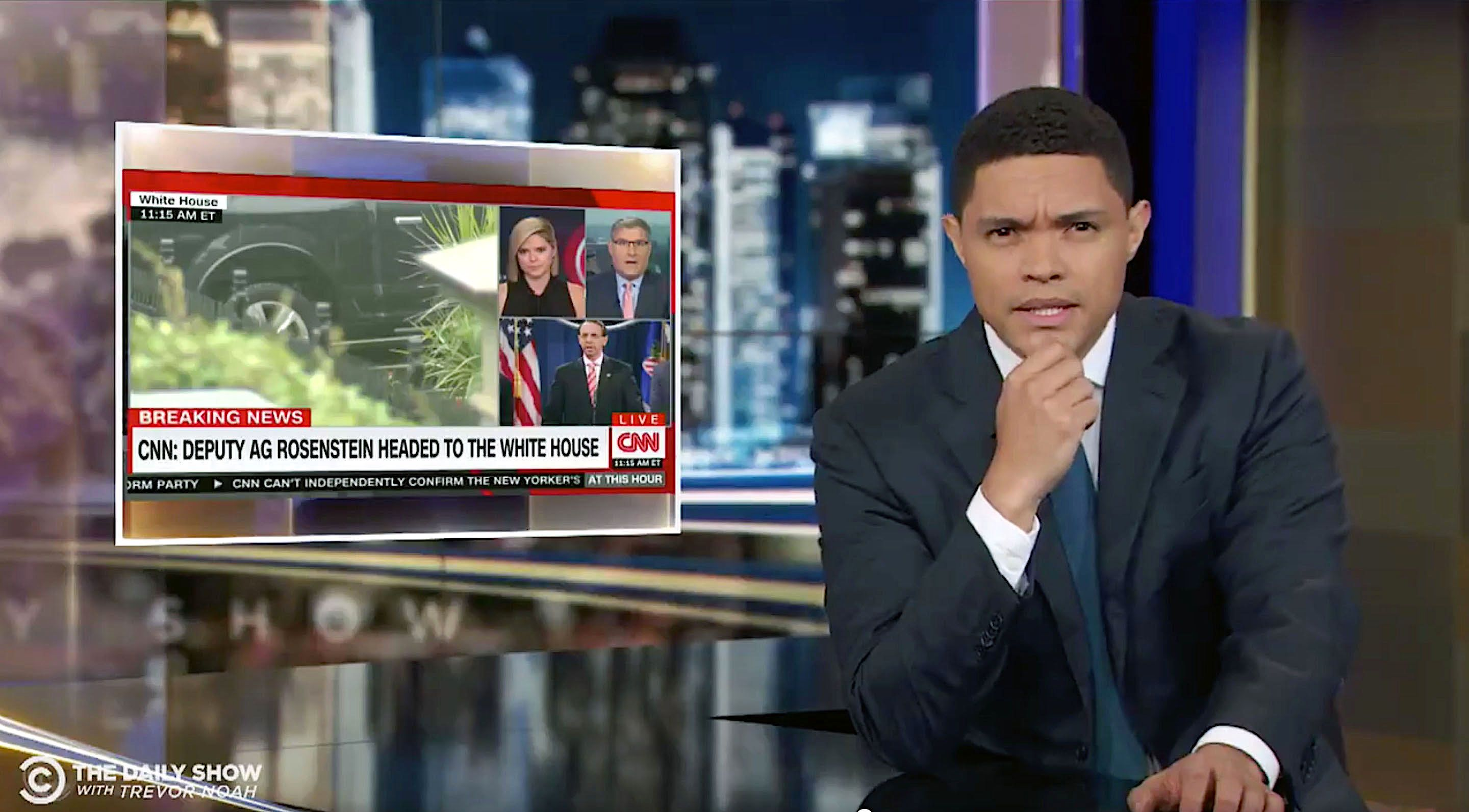 Trevor Noah of The Daily Show has a problem with breaking news