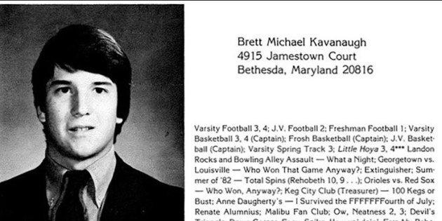 Brett Kavanaugh s'est dépeint en étudiant prude. Son entrée dans le