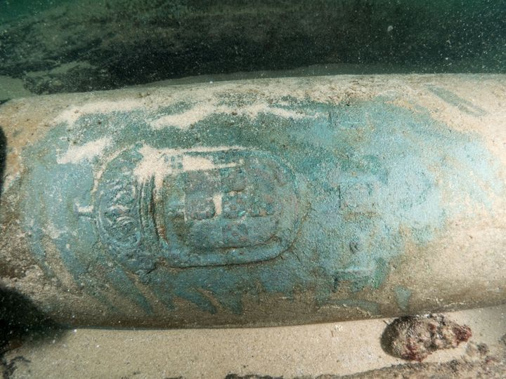 The site contains nine bronze cannons engraved with the Portuguese coat of arms