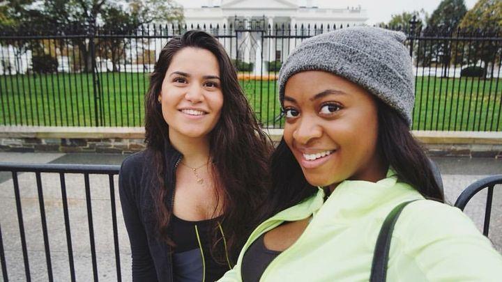 Dani Nicholls (right) and her friend Arianna.