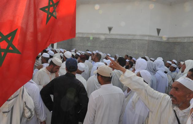Des imams marocains manifestent à Rabat le 21 juin 2011 contre leurs conditions de
