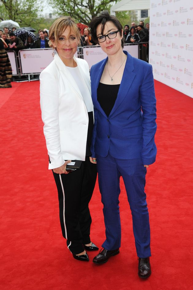 Mel and Sue at the TV Baftas in