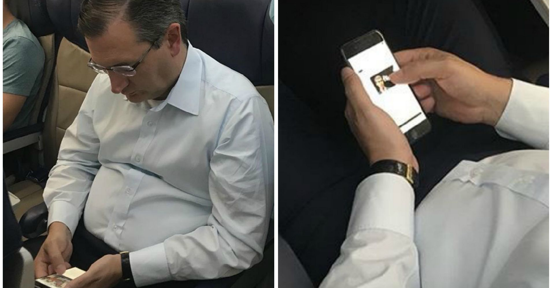 Ted Cruz Spotted On Flight Looking At Photo Of Senate Rival Beto O'Rourke | HuffPost