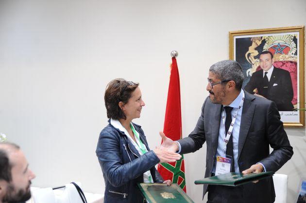Nathalie Stubler, PDG de Transavia France, et Adel El Fakir, Directeur Général de l'ONMT,...