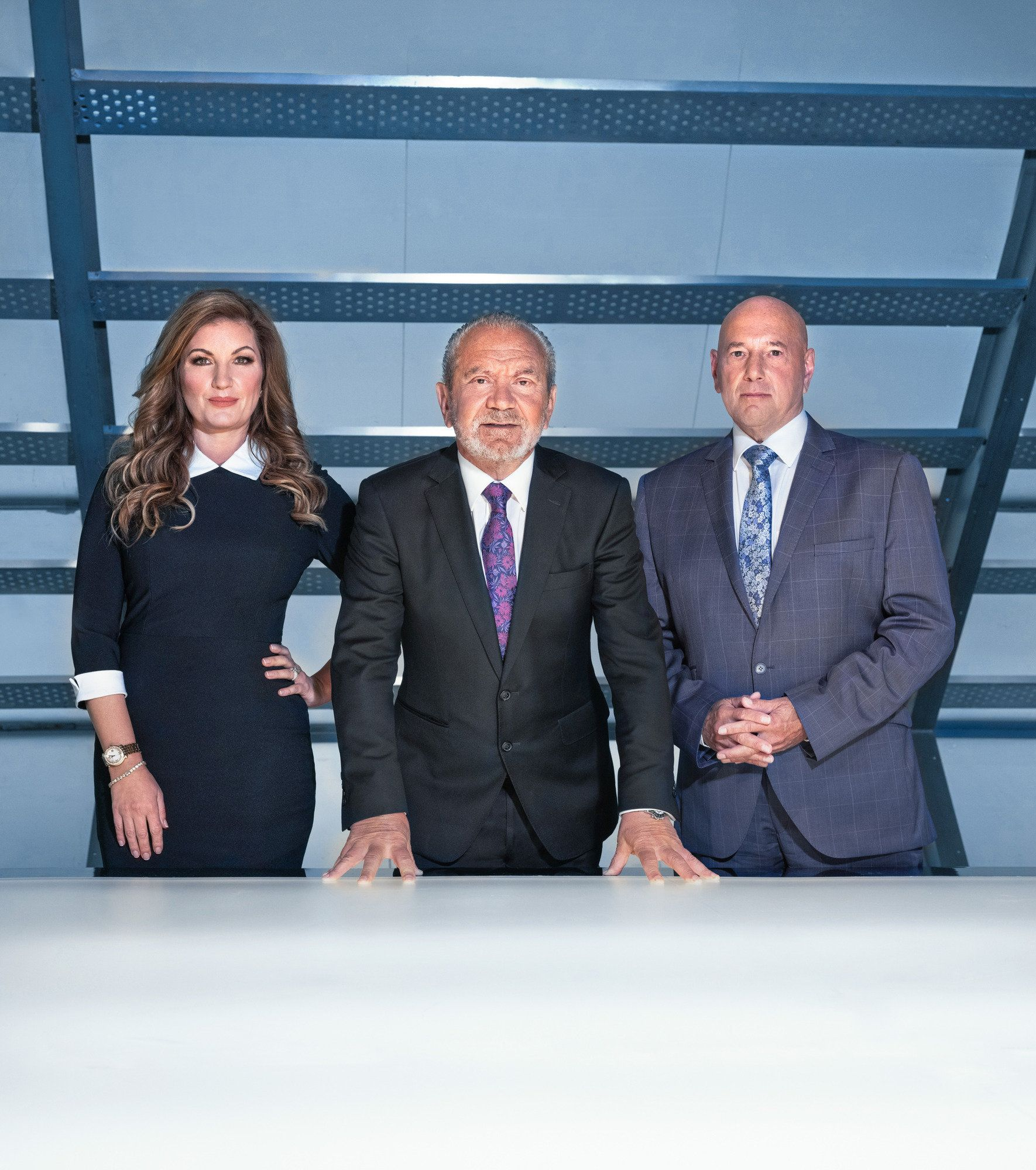 Lord Sugar with advisors Karren Brady and Claude