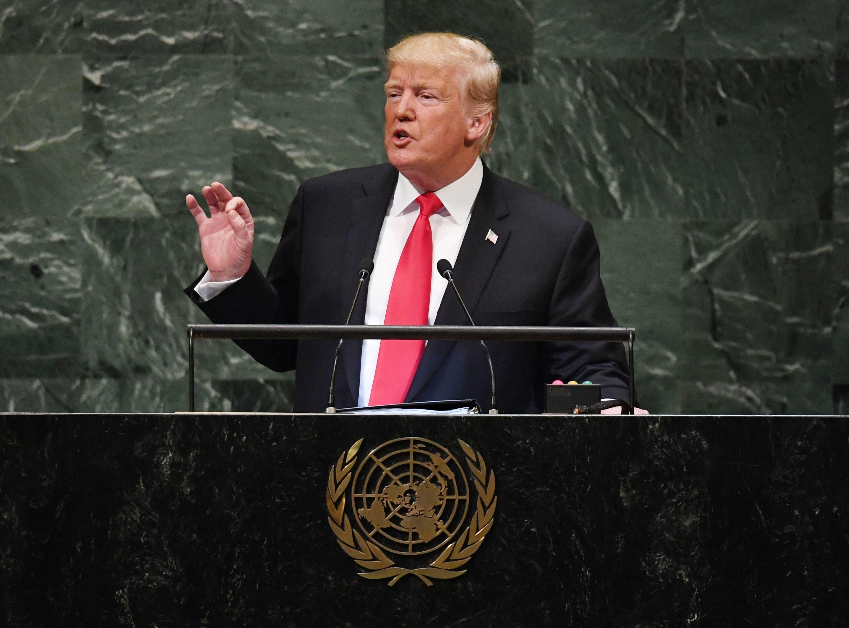 Trump hält Rede vor der UN-Vollversammlung – schon nach einer Minute wird er