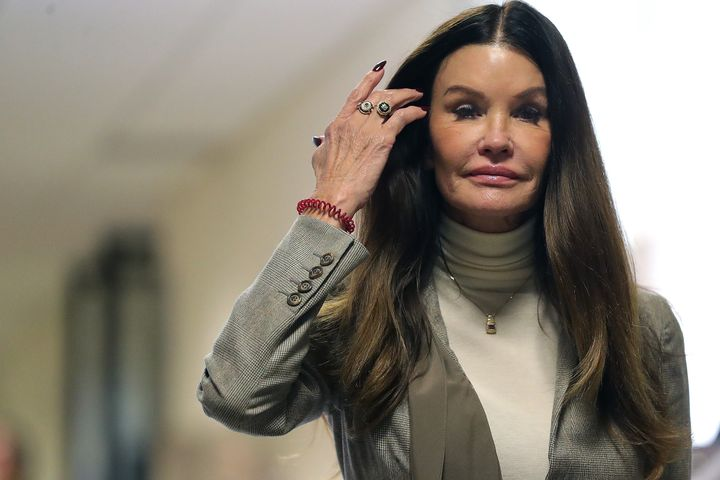 Former model Janice Dickinson returns to the courtroom during the lunch break in the sexual assault trial sentencing hearing for Bill Cosby at the Montgomery County Courthouse in Norristown, Pennsylvania, on Monday.