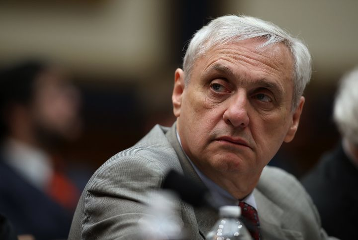 Alex Kozinski, then a judge for the 9th Circuit U.S. Court of Appeals, looks on during a House Judiciary Committee hearing on
