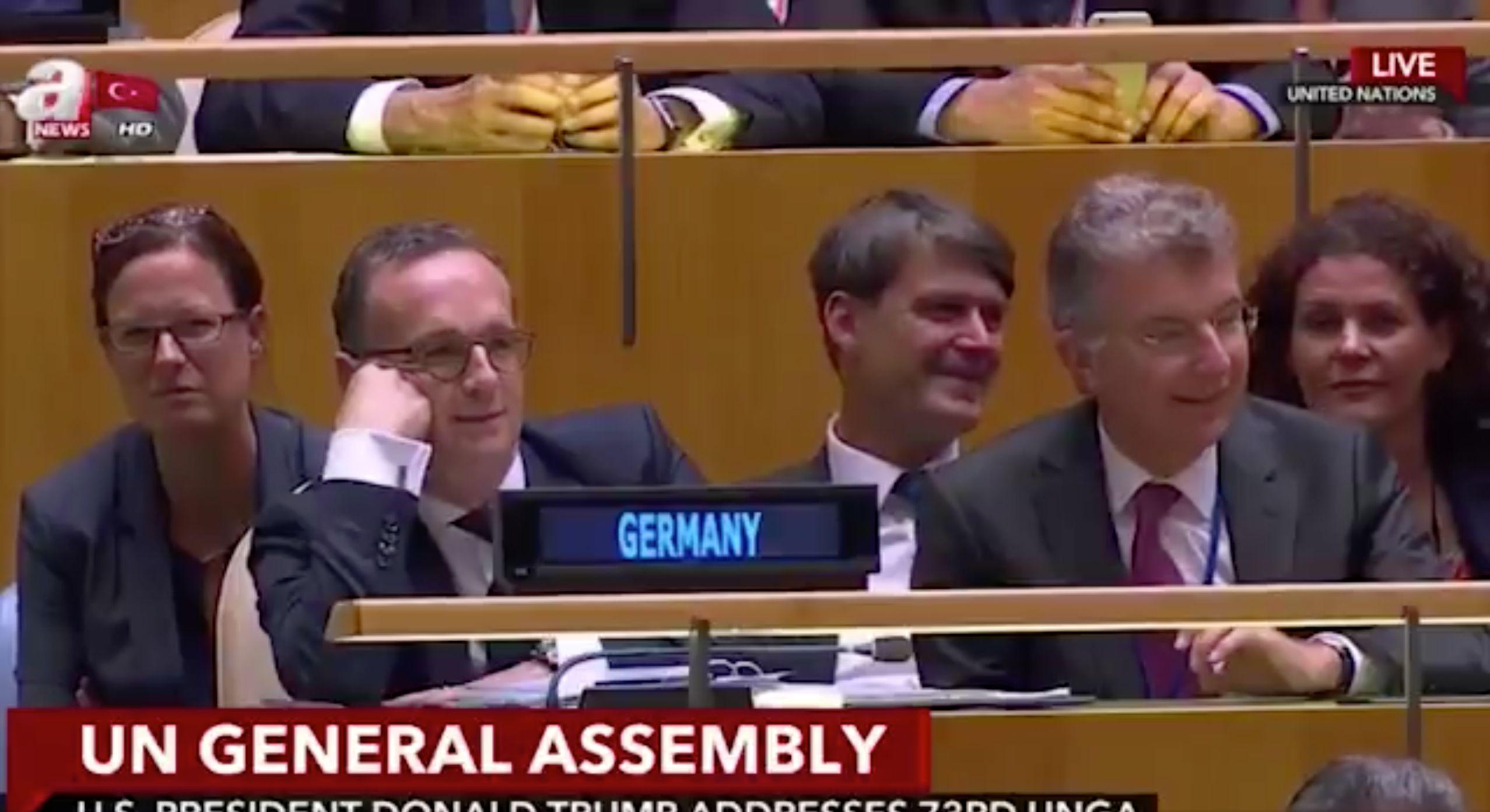 Als Trump über Deutschland spricht, schüttelt Außenminister Maas den Kopf