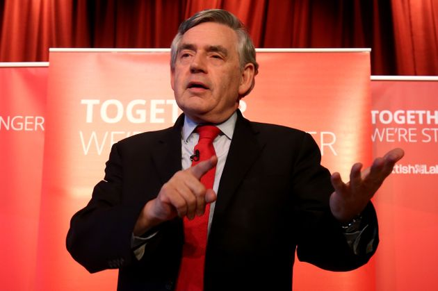 Former Labour Prime Minister and Chancellor Gordon Brown