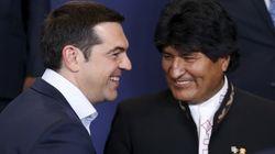 Για μέτωπο στον νεοφιλελευθερισμό συζήτησαν ο Αλέξης Τσίπρας και ο Βολιβιανός πρόεδρος, Έβο