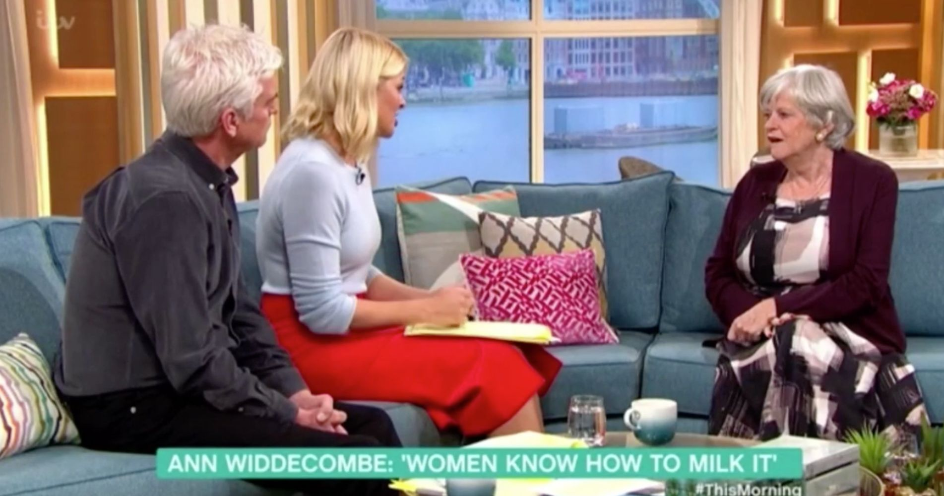 Ann Widdecombe airs her views on women's rights on 'This Morning'