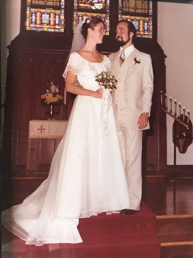 Richard and Cindy Mylin on their wedding day in