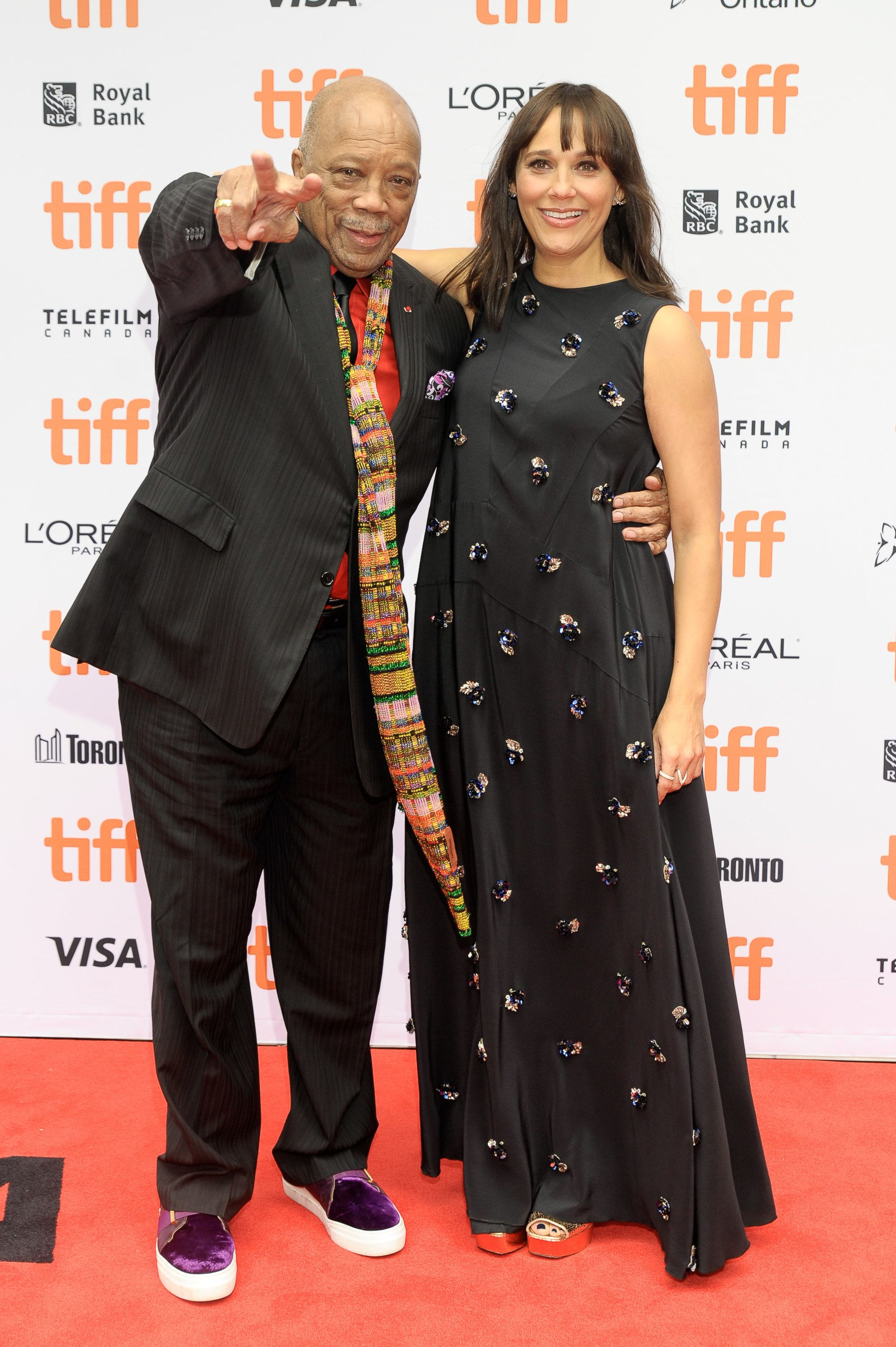 "Quincy Jones and Rashida Jones attend the ""Quincy"" Premiere at the Toronto International Film Festival."
