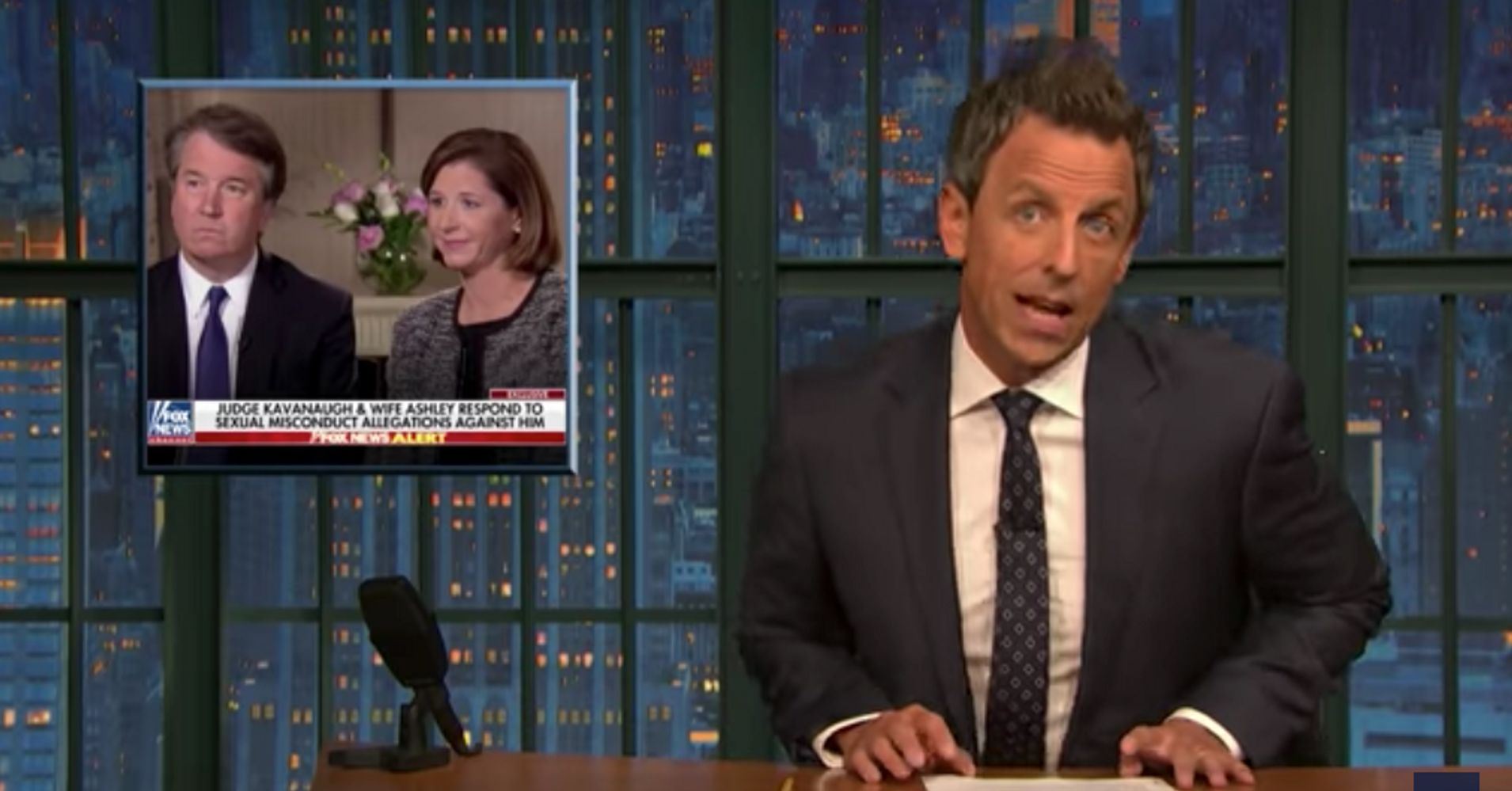 Seth Meyers Hilariously Rips Apart Brett Kavanaugh's Virgin Defense