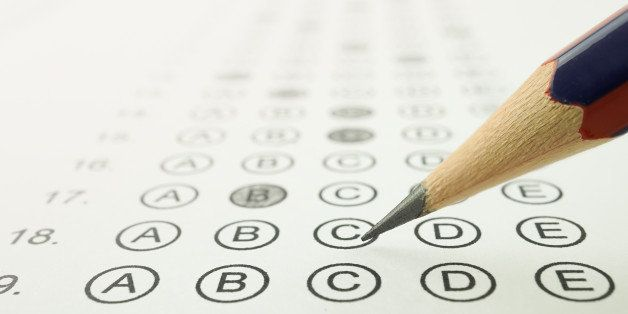 Answer sheet and pencil for education concept