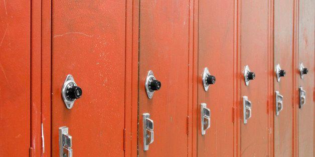 Red High School Lockers