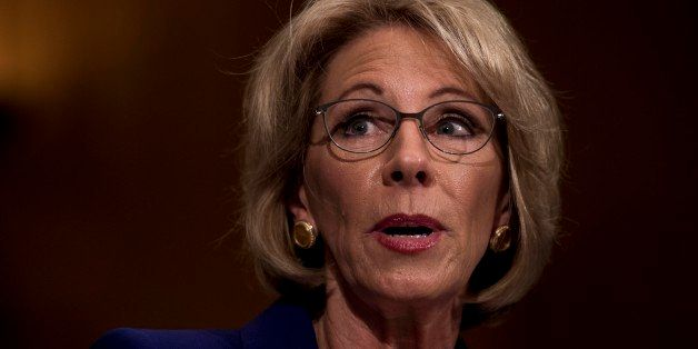 WASHINGTON, DC - President-elect Donald Trump's nominee for Secretary of the Education Betsy DeVos  appears before the Senate