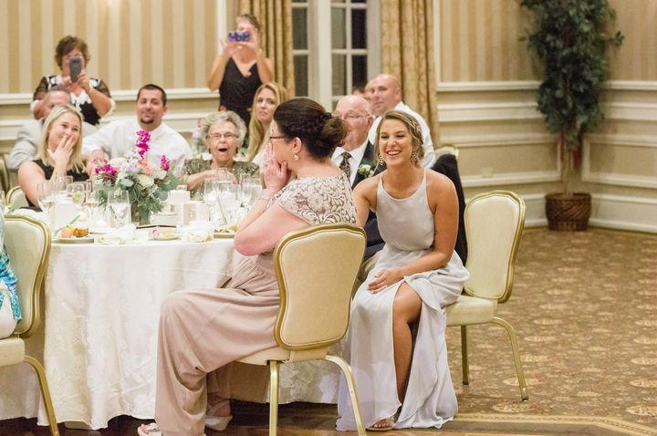 The mother of the bride was floored when she saw her daughter wearing her 1979 wedding gown.