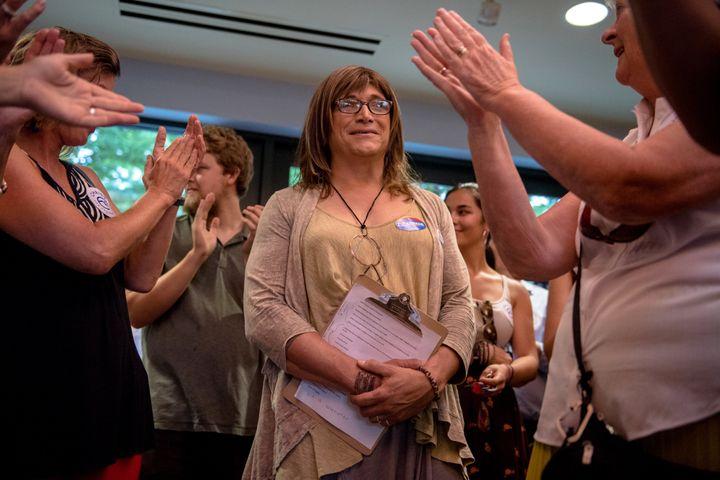 Vermont Democratic gubernatorial nominee Christine Hallquist