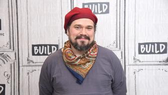 NEW YORK, NY - JUNE 01:  Writer and actor Justin Sayre visits Build Series to discuss 'The gAyBC's: A Brief History of Gay Culture' at Build Studio on June 1, 2018 in New York City.  (Photo by Gary Gershoff/WireImage)
