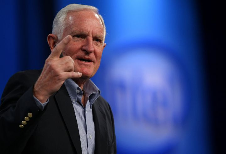 SAN FRANCISCO - AUGUST 19:  Intel Chairman and former CEO Craig Barrett delivers a keynote address at the 2008 Intel Develope