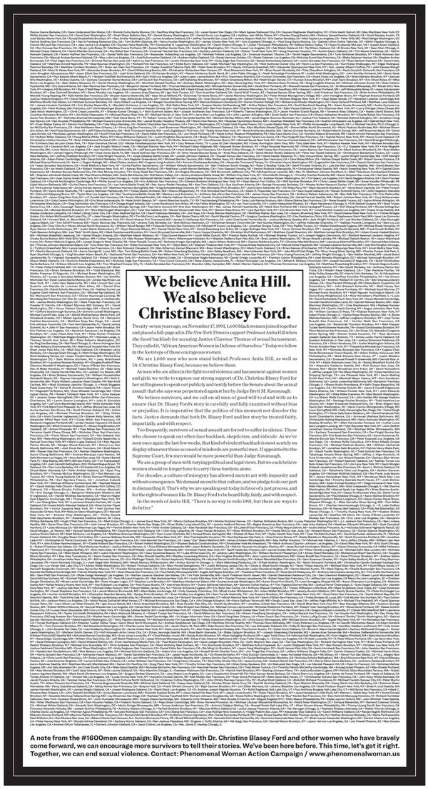 The ad ran in Wednesday's edition of the New York Times. (Scroll all the way down to read the full transcript of the ad.)