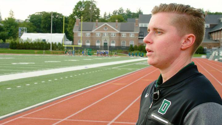 Callie Brownson is an offensive quality coach for Dartmouth's Big Green football team.