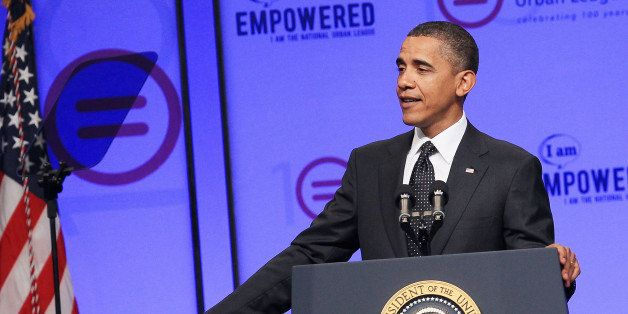 WASHINGTON - JULY 29:  U.S. President Barack Obama speaks at the 100th anniversary convention of the National Urban League  o