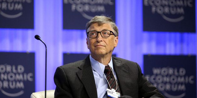 Bill Gates, co-chair and trustee of Bill and Melinda Gates Foundation, pauses during a session on day three of the World Econ