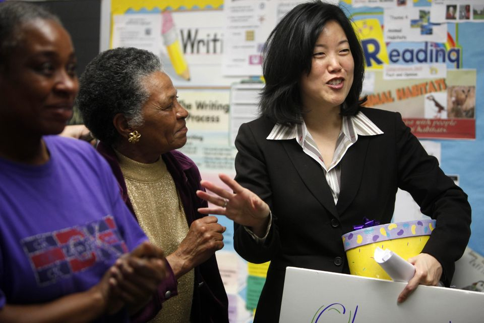 <strong>Changed the game by ...</strong> shaking up the D.C. school system. Rhee has been the chancellor of Washington, D.C.
