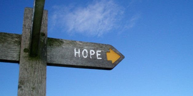 sign pointing to the village of Hope, Derbyshire UK