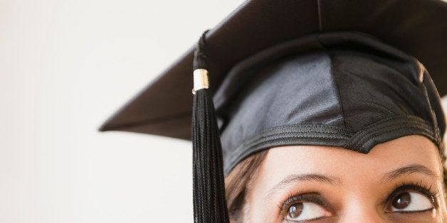 Cape Verdean woman in graduation cap