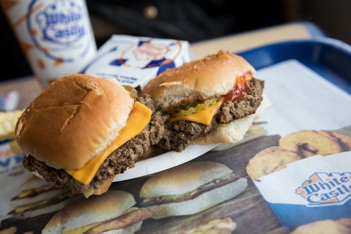 Meatless 'Impossible Sliders' served at a White Castle restaurant in New York City.