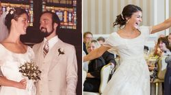 Bride Surprises Parents By Changing Into Mum's Gorgeous 1979 Wedding