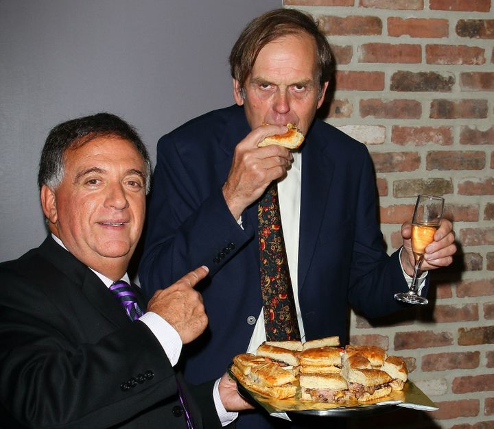 Montagu and Robert Earl attend the grand opening of an Earl of Sandwich in New York City on Sept. 2, 2011.
