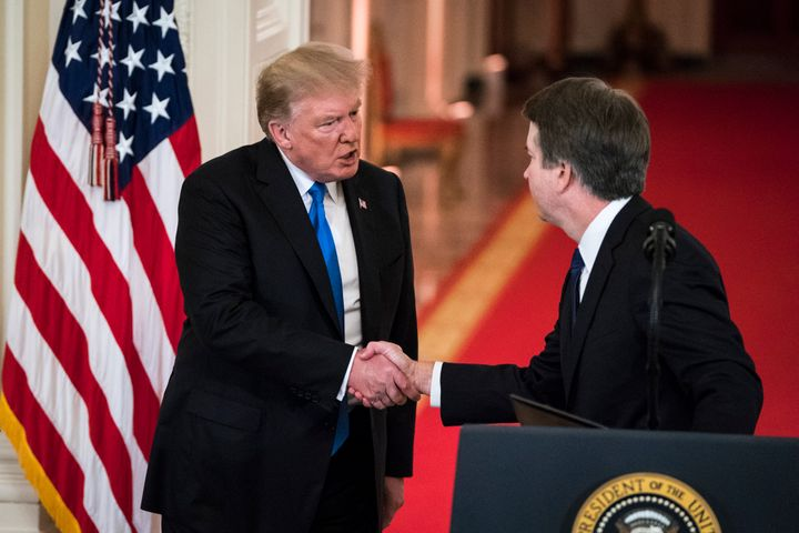 Kavanaugh is the choice of a president who has been accused of varying forms of sexual misconduct, up to and including rape,