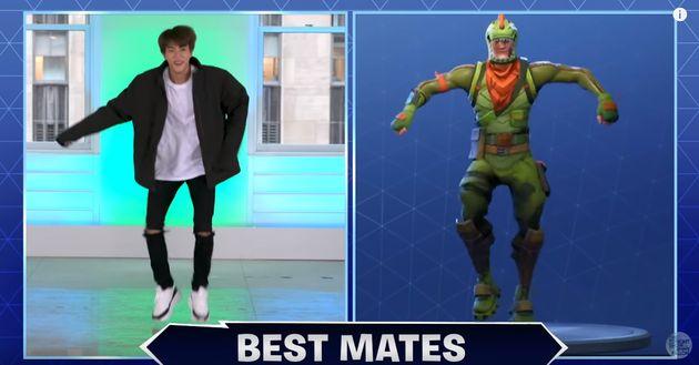 방탄소년단이 미국 토크쇼에서 '포트나이트 댄스 챌린지'에