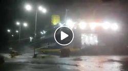 Βίντεο: Το Superrunner δίνει μάχη με τους ανέμους στο λιμάνι της