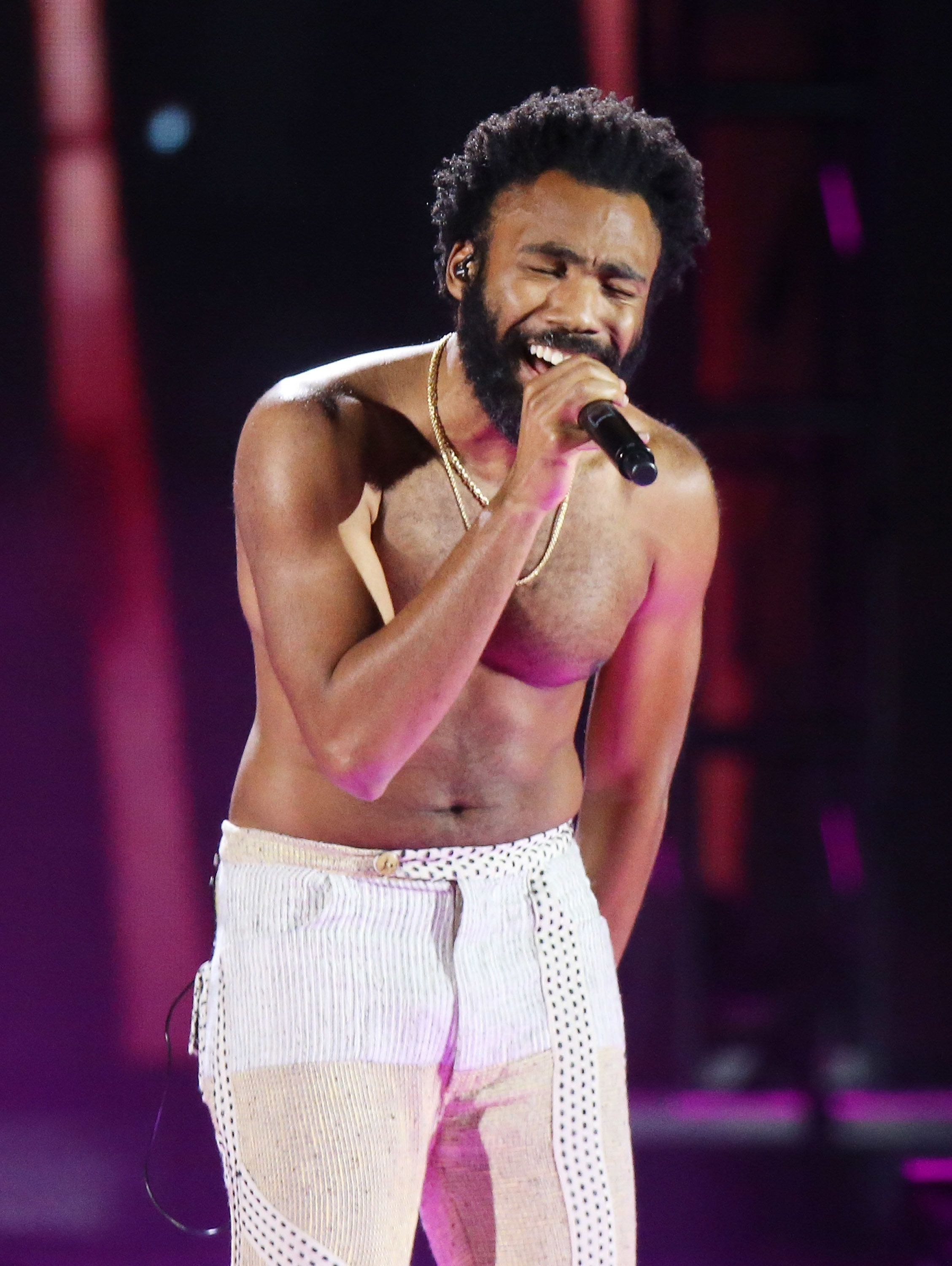 LAS VEGAS, NV - SEPTEMBER 21:  Donald Glover aka Childish Gambino performs onstage during the 2018 iHeartRadio Music Festival - Day 1 held at T-Mobile Arena on September 21, 2018 in Las Vegas, Nevada.  (Photo by Michael Tran/FilmMagic)