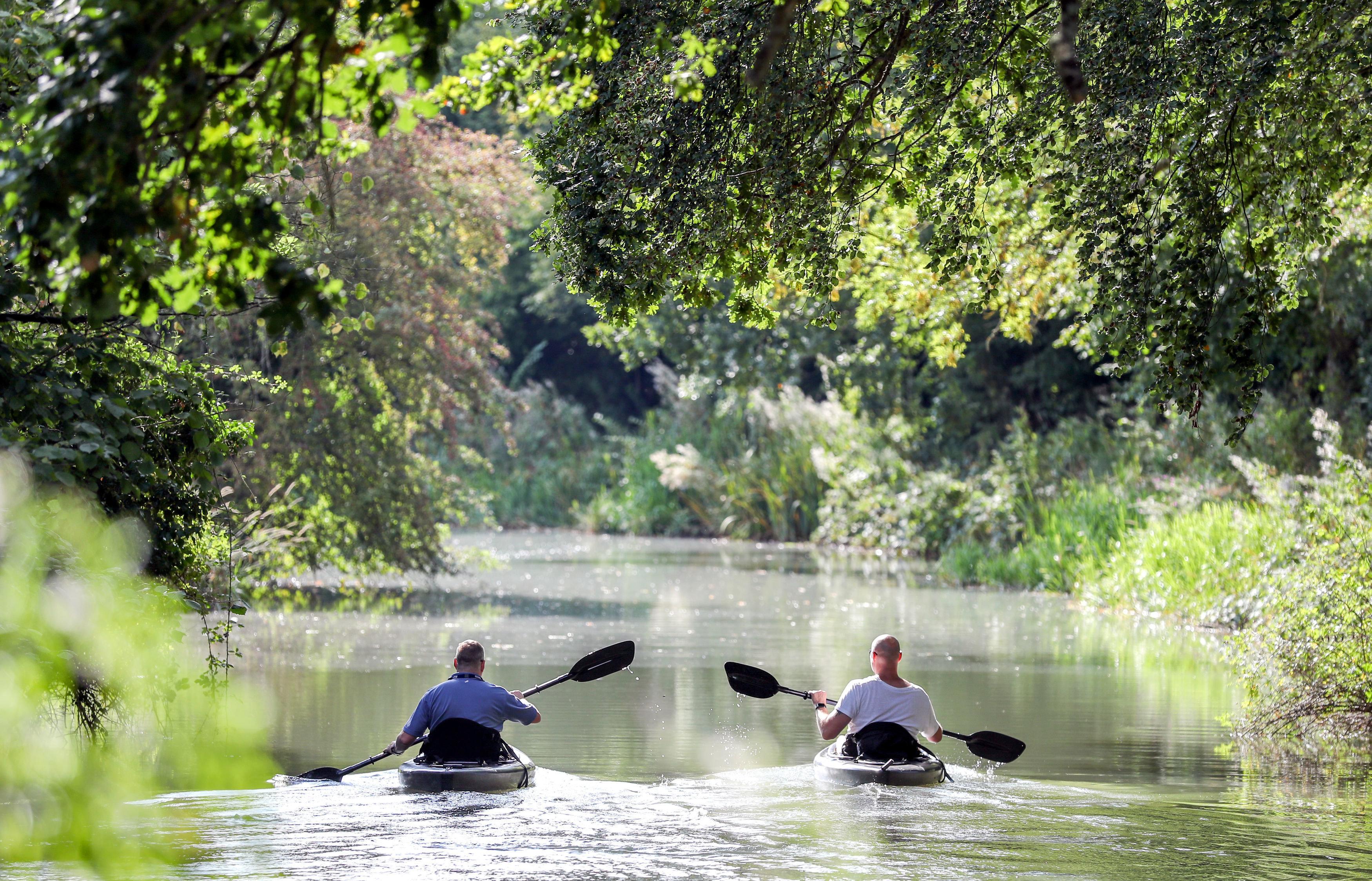 The Basingstoke canal, which runs through the borough of Rushmoor,