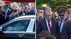 Pikante Bilder von Erdogans Berlin-Ankunft: Hat er seine Prügel-Bodyguards
