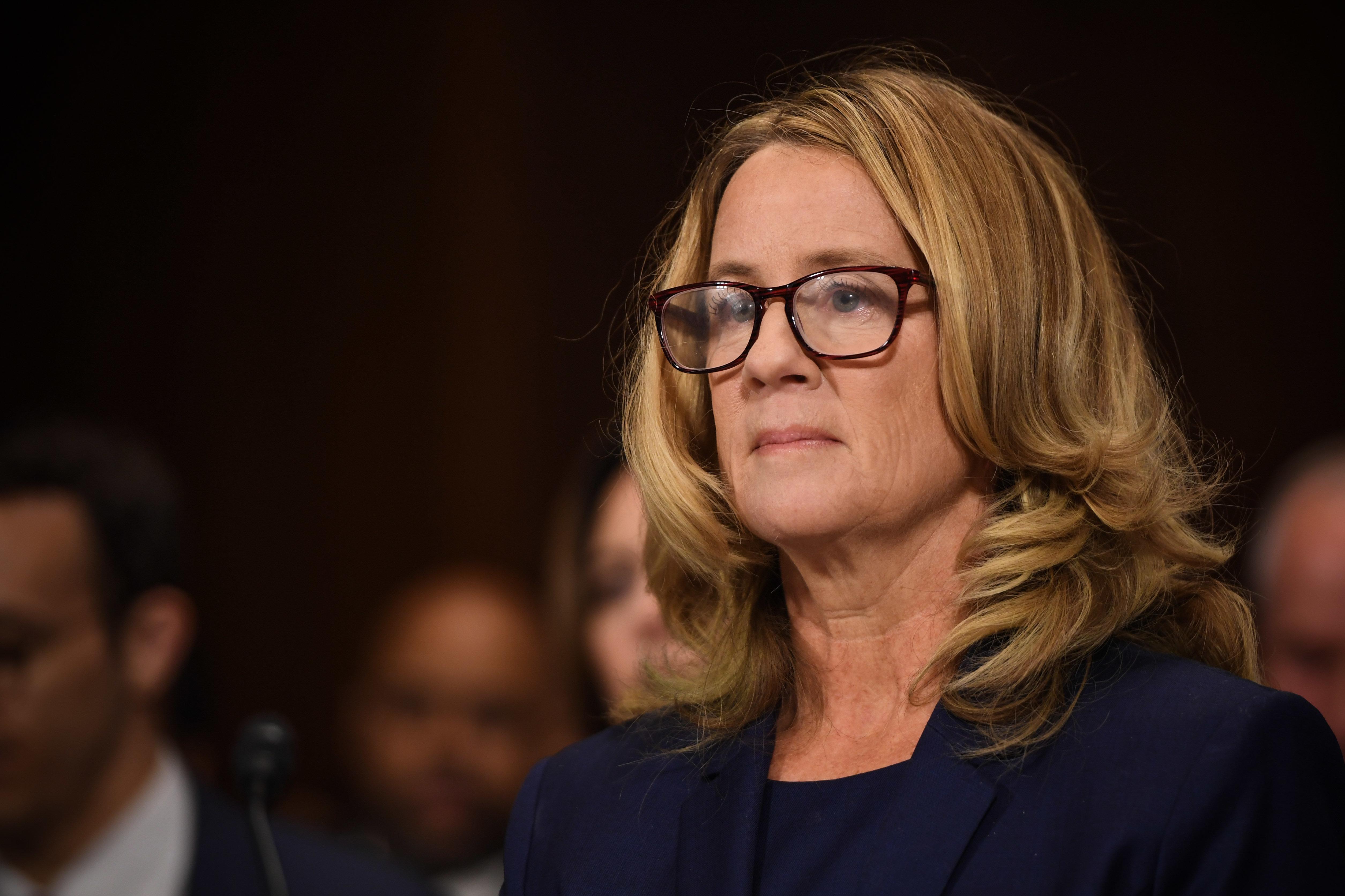 Brett Kavanaugh Accuser Christine Blasey Ford Testifies At Historic Senate