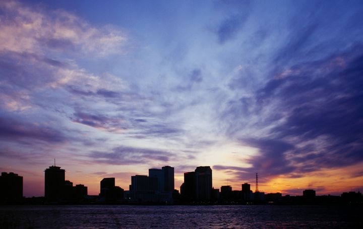new orleans city skyline...