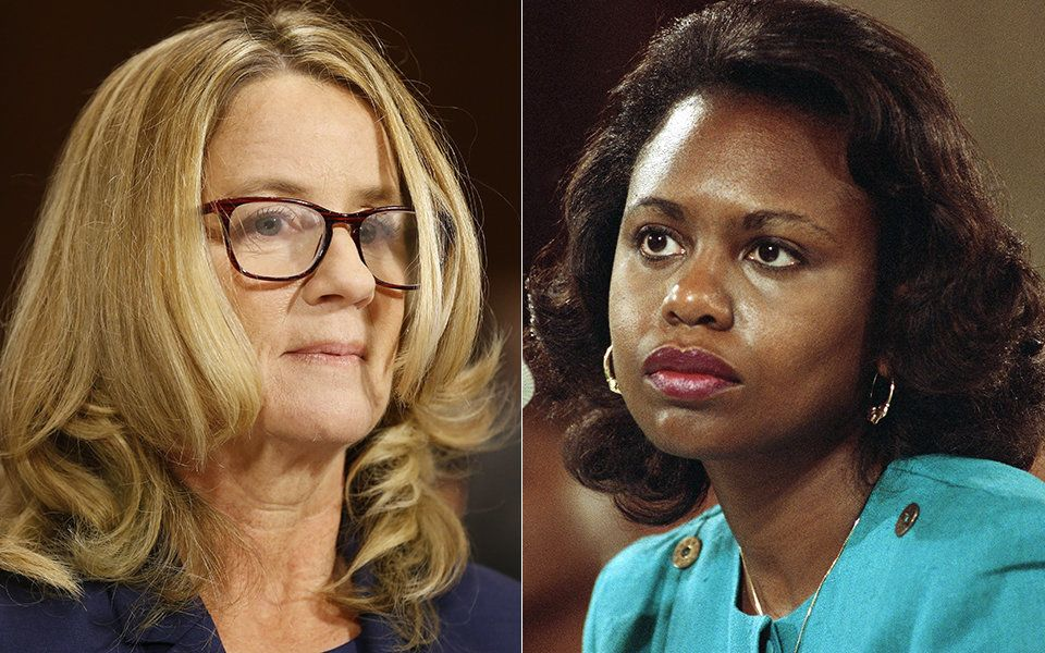 Christine Blasey Ford testified 27 years after Anita Hill spoke out against Clarence Thomas.