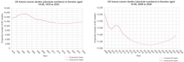 Deaths From Breast Cancer Set To Rise Within 4 Years, Ending Decades Of