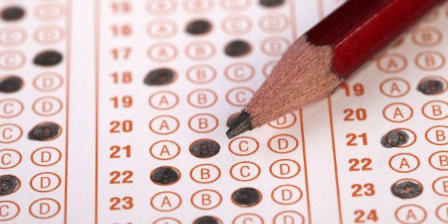 Filled optical form of an examination.