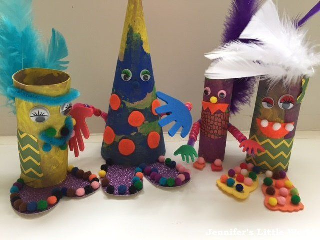 How To Make Toilet Roll Tube Monsters For