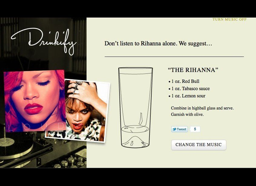 "Why listen to music sober when <a href=""http://drinkify.org/"" target=""_hplink"">Drinkify</a> lets you input the band you're li"