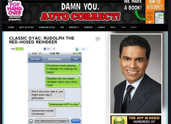 "Fareed Zakaria could do for funny iPhone typos on <a href=""http://damnyouautocorrect.com"" target=""_hplink"">Damn You, Autocorr"